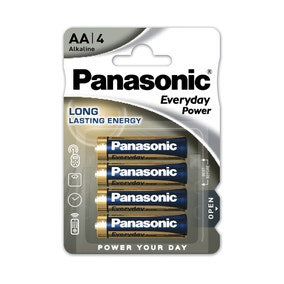 Panasonic Everyday Power Pack of 4 AA Batteries