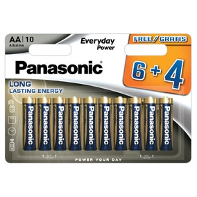 Panasonic Alkaline Pack of 10 AA Batteries