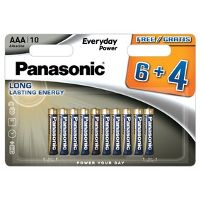 Panasonic Alkaline Pack of 10 AAA Batteries