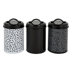 Dottie Print Printed Set of 3 Canisters