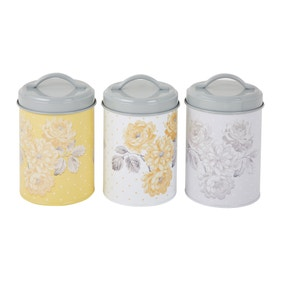 Ashbourne Printed Set of 3 Canisters