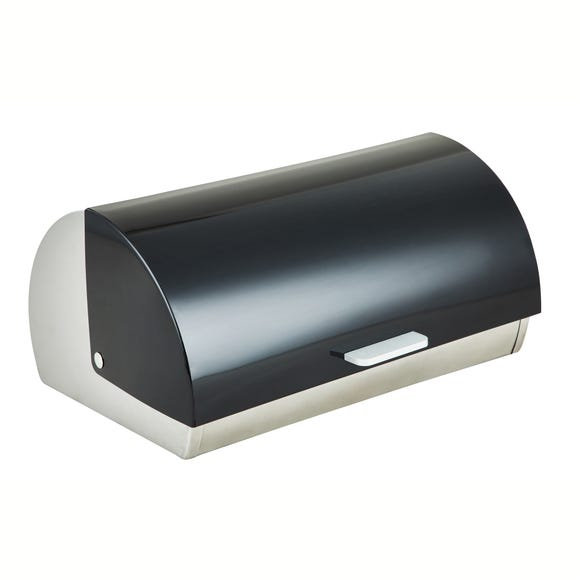 Black Roll Bread Bin Black