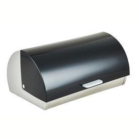 Black Roll Bread Bin