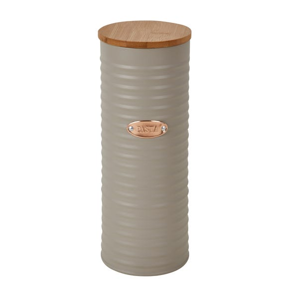 Grey and Copper Pasta Canister Grey