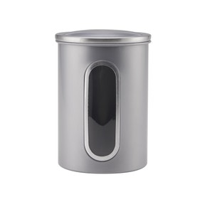 Stainless Silver Metal Window Canister