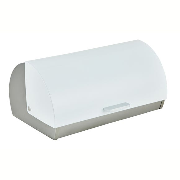 White Roll Bread Bin White