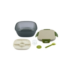 Lunch Box with Dressing Compartment