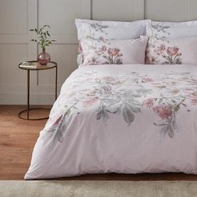 Roisin Large Floral Blush Duvet Cover and Pillowcase Set