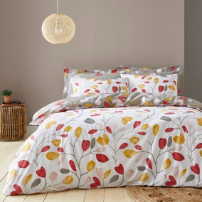Kara Ochre Duvet Cover and Pillowcase Set