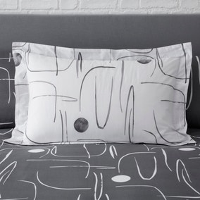 Elements Otley Grey Oxford Pillowcase