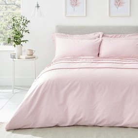 Edie Pink Pom Pom Duvet Cover and Pillowcase Set