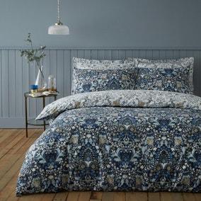 Hardwick Blue Duvet Cover and Pillowcase Set