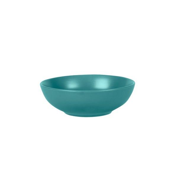 Stoneware Teal Cereal Bowl Teal (Blue)