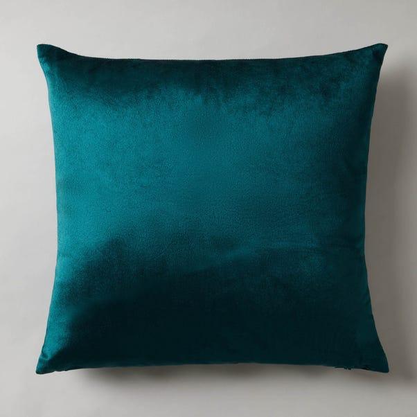Macy Velour Cushion Teal (Blue)