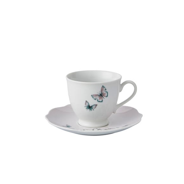 Heavenly Hummingbird Blush Cup and Saucer Blush