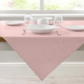 Semi Plain Blush PVC Tablecloth