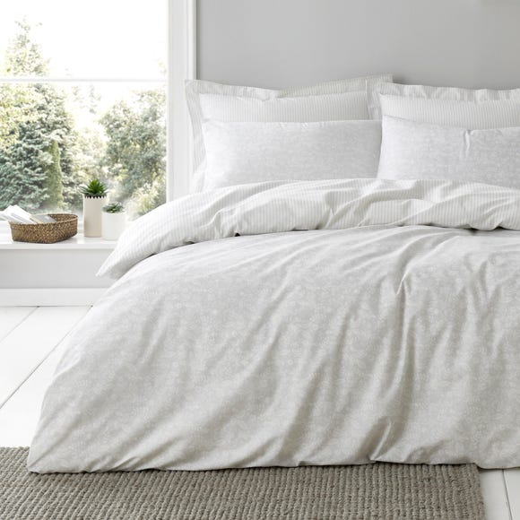Phoebe Grey Duvet Cover and Pillowcase Set  undefined