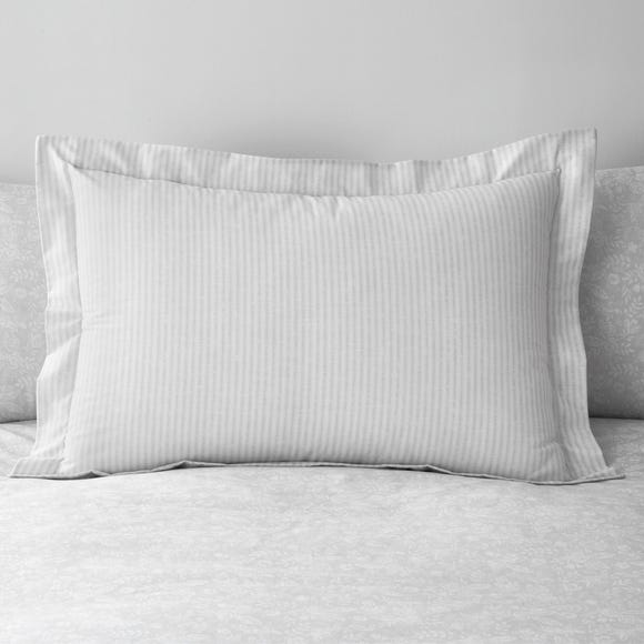 Phoebe Grey Oxford Pillowcase Grey