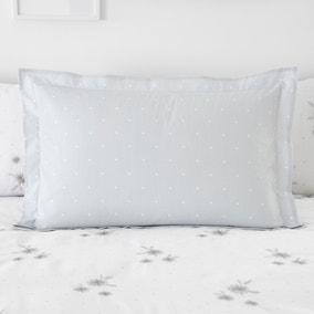 Emily Grey and White Oxford Pillowcase