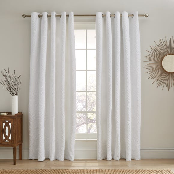 Mandalay White Blackout Eyelet Curtains  undefined