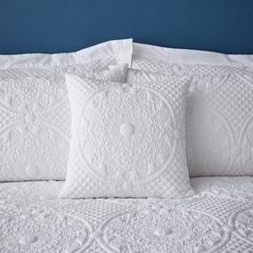 Mandalay White Square Cushion