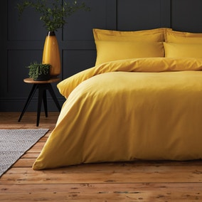 Chester Yellow Waffle 100% Cotton Duvet Cover and Pillowcase Set