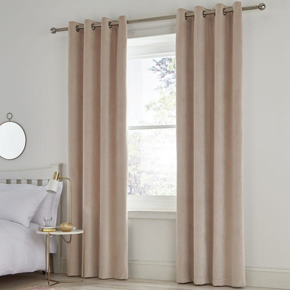 Arielle Velvet Champagne Blackout Eyelet Curtains  undefined