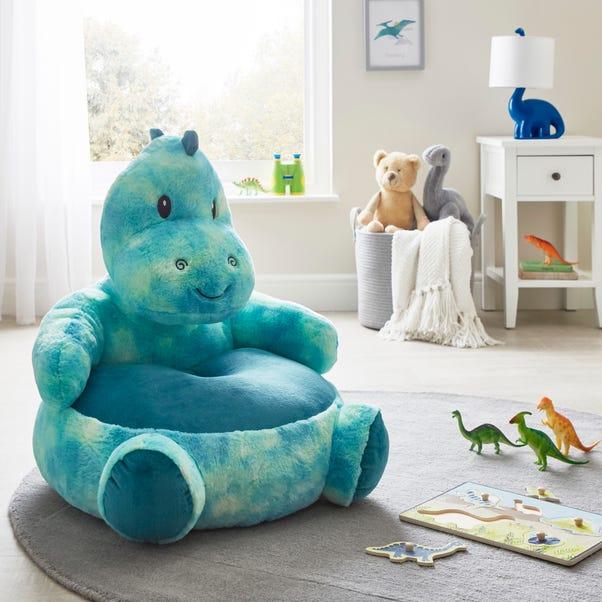 Dinosaur Sitting Plush Blue