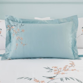 Evelyn Blue Oxford Pillowcase