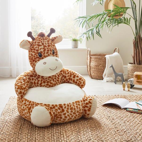 Giraffe Sitting Plush Orange