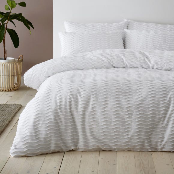 Arlo White 100% Cotton Duvet Cover and Pillowcase Set  undefined