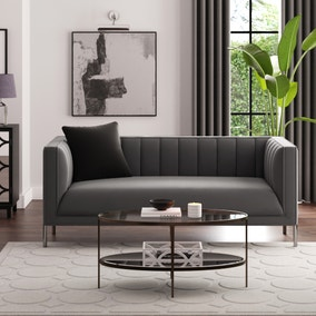 Bellamy Velvet 2 Seater Sofa - Grey