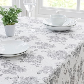 Ashbourne Grey PVC Tablecloth
