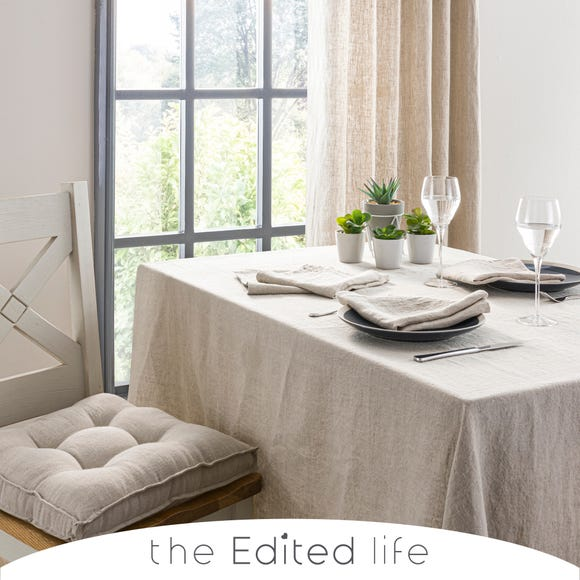 Natural Linen Tablecloth  undefined
