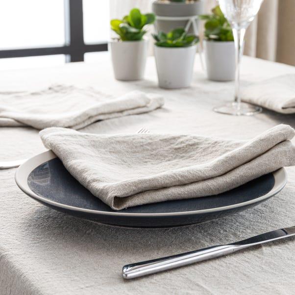 Pack of 4 Natural Linen Napkins Natural