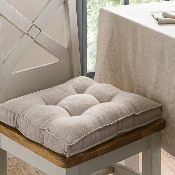 Natural Linen Seat Pad Natural