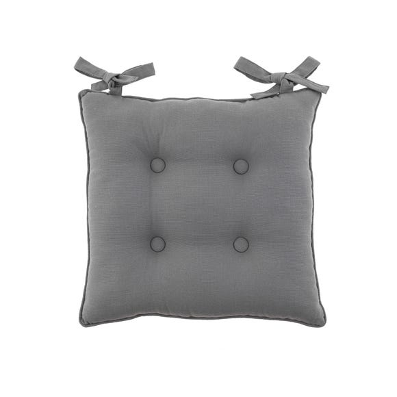 Isabelle Charcoal Seat Pad Charcoal