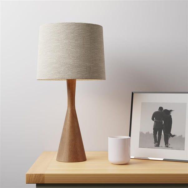 Nala Mango Wood Table Lamp Dark Wood (Brown)