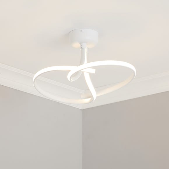 Cortez 2 Arm LED Ceiling Fitting White White