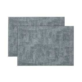 Pack of 2 Faux Leather Placemat