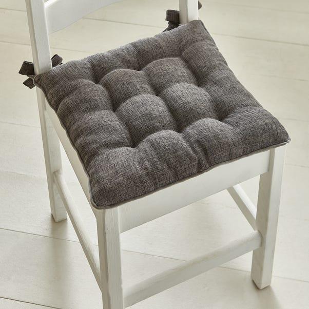 9 Stitch Charcoal Velvet Seat Pad Charcoal