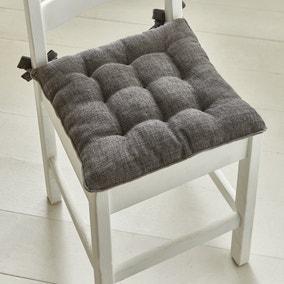 9 Stitch Charcoal Velvet Seat Pad