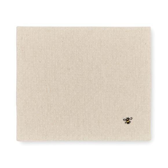 Pack of 2 Bees Fabric Placemats Natural