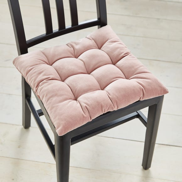 Cotton Velvet Blush Seat Pad Blush