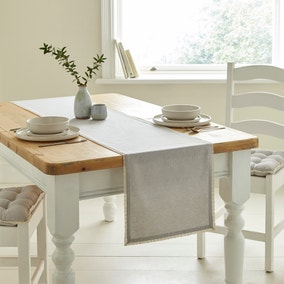 Lace Trim Dove Grey Runner