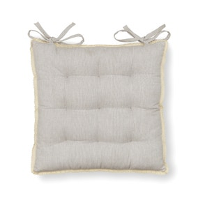9 Stitch Dove Grey with Lace Trim Seat Pad