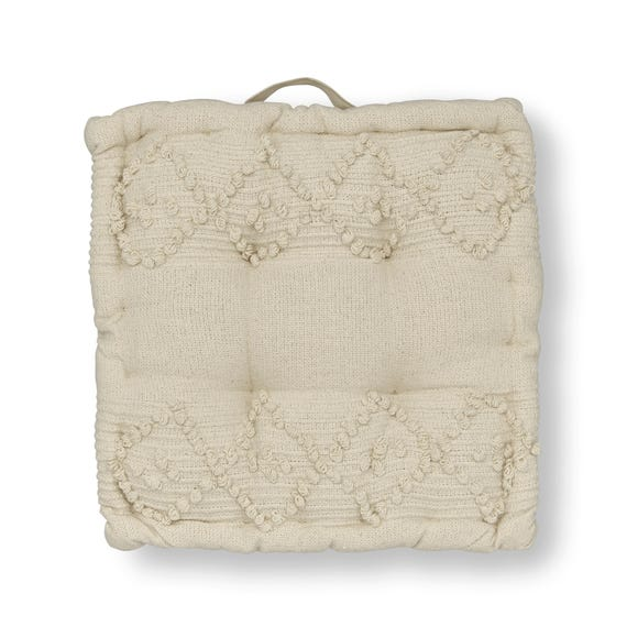 Macrame Global Box Seat Pad Natural