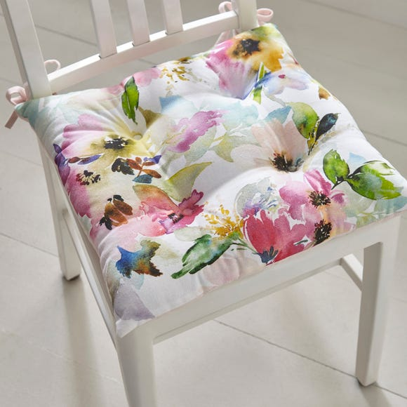 Sophia Floral Seat Pad MultiColoured