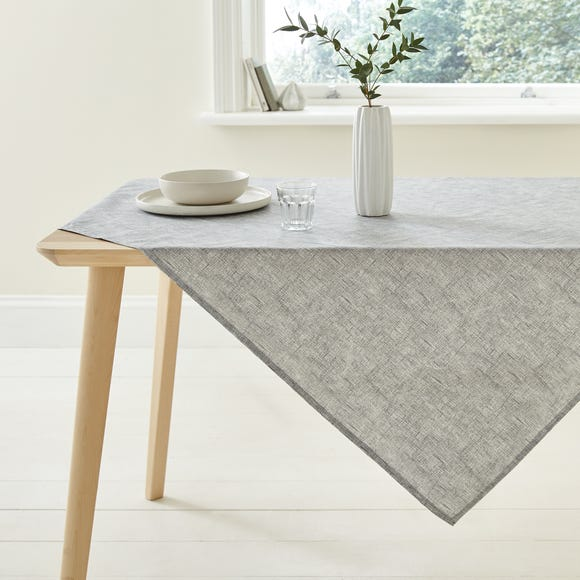 Grey Wipe Clean Tablecloth Grey undefined