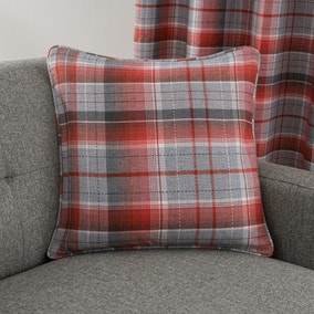 Inverness Check Red Cushion